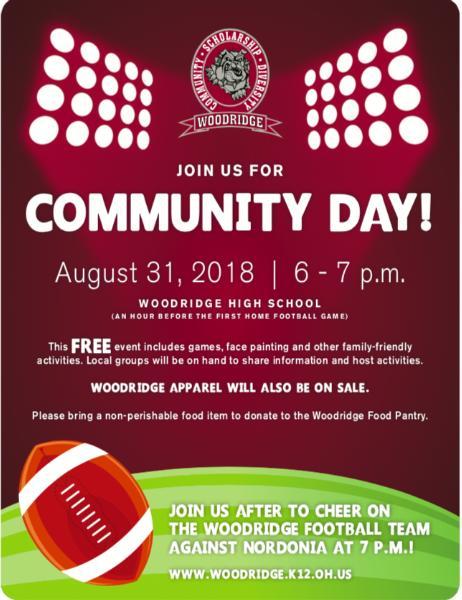 Friday August 1st Free Community >> Woodridge Local Schools